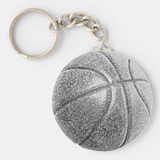 Pencil Effect Basketball Keychain