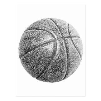 Pencil Effect Basketball Postcard
