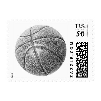 Pencil Effect Pop Art Basketball Postage