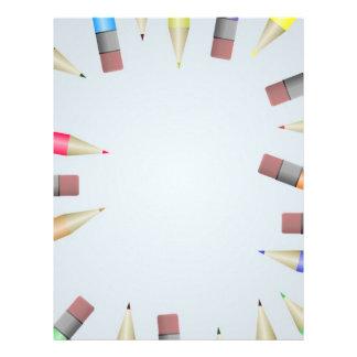Pencil frame personalized letterhead
