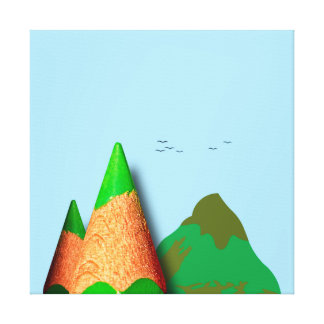 Pencil landscape canvas print