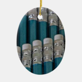 Pencil Line Up Christmas Tree Ornaments