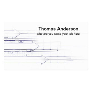 pencil lines drawing business card