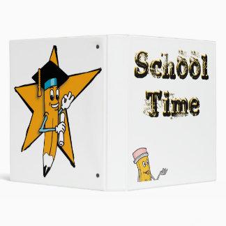 Pencil Logo School Time Avery Binder