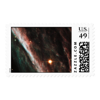 Pencil Nebula Remnants of Exploded Star NGC 2736 Postage