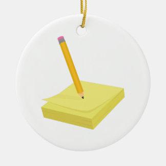 Pencil & Note Ornament