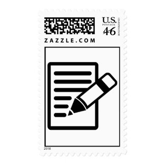 Pencil paper stamps