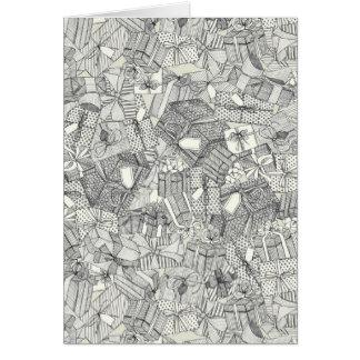 pencil parcels ivory card
