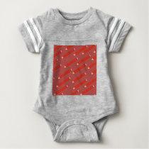 pencil pattern baby bodysuit