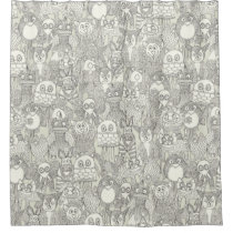 pencil pinatas ivory shower curtain