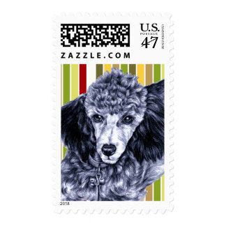 Pencil Poodle Stamp