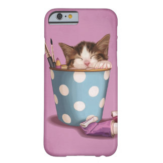 Pencil pot kitten barely there iPhone 6 case