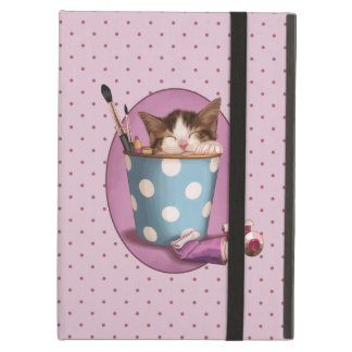 Pencil Pot Kitten Case For iPad Air