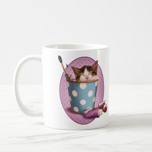 Pencil pot kitten coffee mug