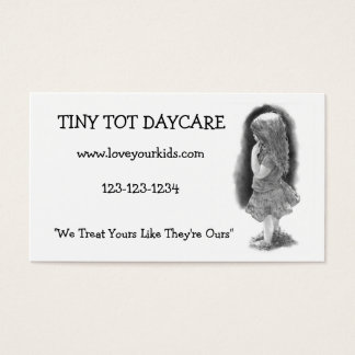 PENCIL REALISM: CHILD: DAYCARE BUSINESS CARD