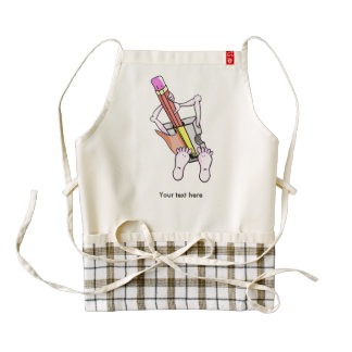 Pencil Sharpener With Arms and Legs Zazzle HEART Apron