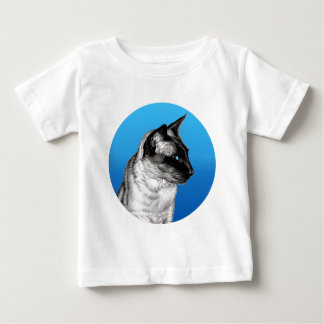 Pencil Siamese Round Baby T-Shirt