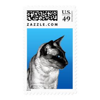 Pencil Siamese Stamp