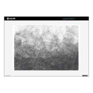 "Pencil sketch. Crosshatch strokes. #002a 15"" Laptop Skin"