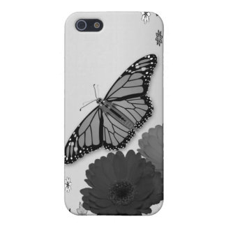 Pencil Sketch Floral Butterfly Flower iPhone Case