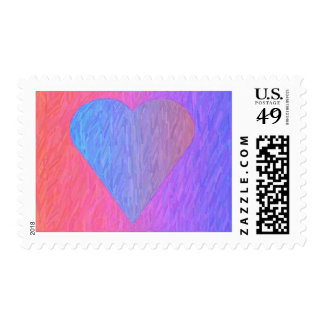 Pencil Sketch Heart Postage Stamps