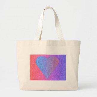 Pencil Sketch Heart Tote Bag