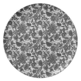 Pencil Sketch Melamine Plate