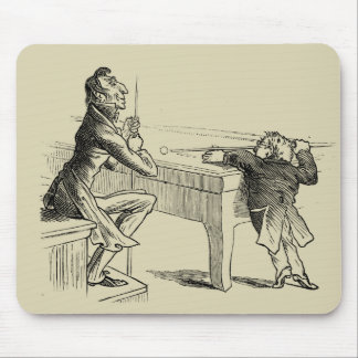 Pencil Sketch of Two Men Playing Pool Mouse Pad