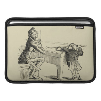 Pencil Sketch of Two Men Playing Pool Sleeve For MacBook Air