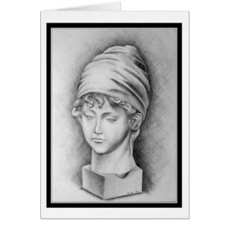 Pencil Sketch of Woman (Card) Card