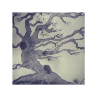 Pencil sketched tree picture wall art