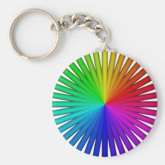 pencil swatch basic round button keychain
