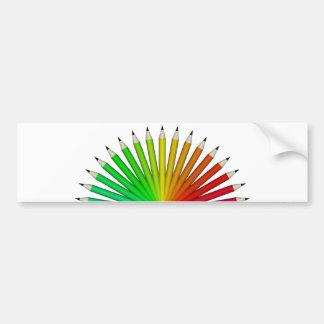 pencil swatch bumper sticker