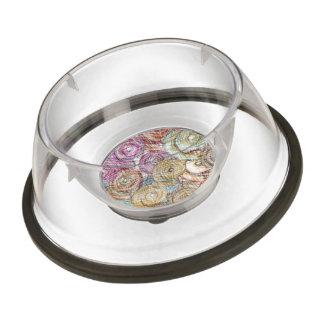 pencil swirls pet bowl