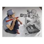 Pencil Vs Camera - 3D Art - Photographer Postcard