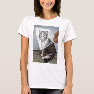Pencil Vs Camera - 4 Eyes Cat T-Shirt