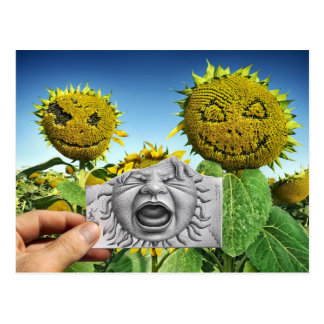 Pencil Vs Camera - Baby Scream Postcard