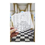 Pencil Vs Camera - Checkmate Canvas Print