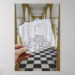 Pencil Vs Camera - Checkmate Poster