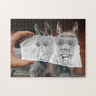 Pencil Vs Camera - Crazy Donkeys Jigsaw Puzzle