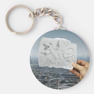 Pencil Vs Camera - Dino Key Chains