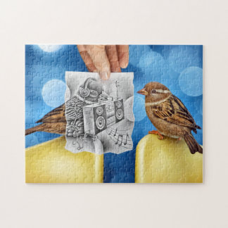Pencil Vs Camera - Electro Bird Jigsaw Puzzle