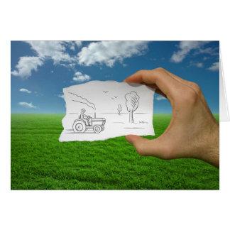 Pencil Vs Camera - Farmer Card