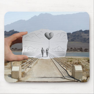 Pencil Vs Camera - Lovers Mouse Pad