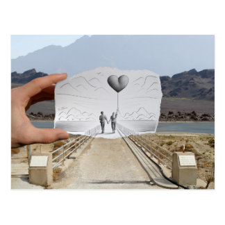 Pencil Vs Camera - Lovers Postcard