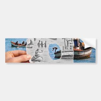 Pencil Vs Camera - Mermaid Bumper Sticker