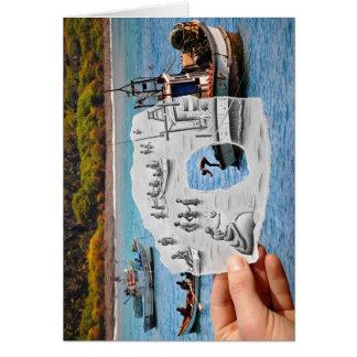 Pencil Vs Camera - Mermaid Greeting Card