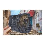 Pencil Vs Camera - Mighty Lion Canvas Print