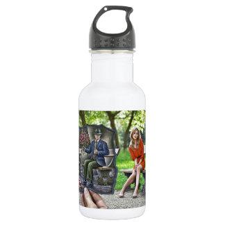 Pencil Vs Camera - Saint Valentine Gentleman 18oz Water Bottle