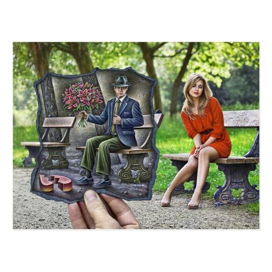 Pencil Vs Camera - Saint Valentine Gentleman Postcard